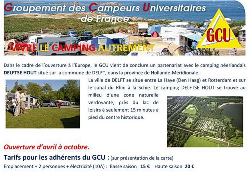 Carte De Leurope Avec La Hollande.Antenne Des Pays Bas Groupement Des Campeurs Universitaires De France